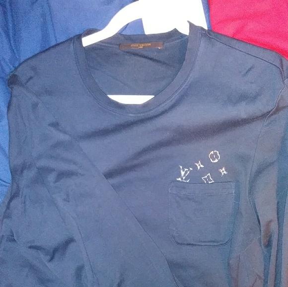 Louis Vuitton Shirts Euc Monogram Pocket Longslee Poshmark